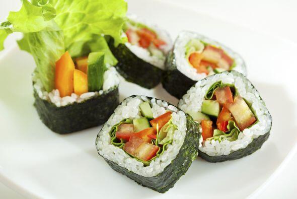Sushi Vegetariano   Otra opción para evitar la carne son unos deliciosos...