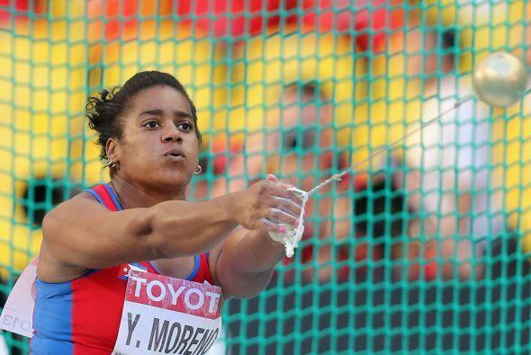 La cubana Yipsi Moreno lanzó el último martillo de su carr...