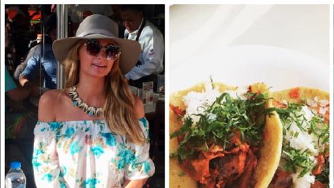 Paris Hilton y tacos al pastor