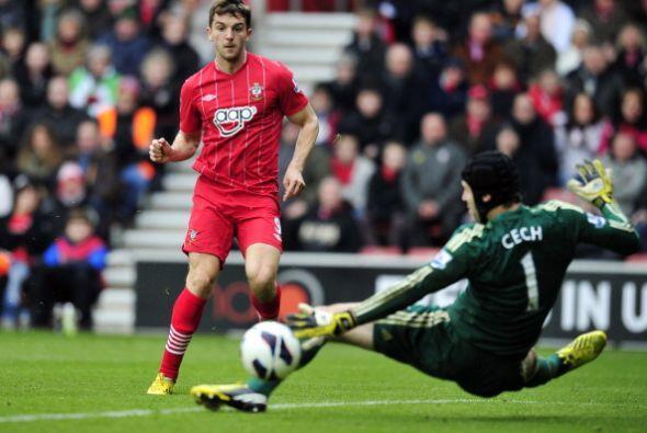 Jay Rodríguez abrió el marcador para Southampton al resolver bien este m...