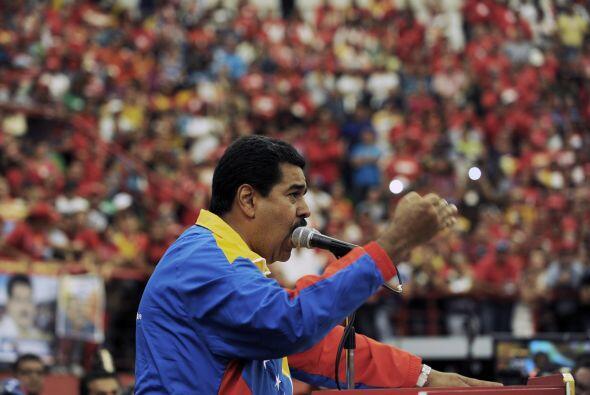 Además de Capriles, el presidente encargado, Nicolás Madur...