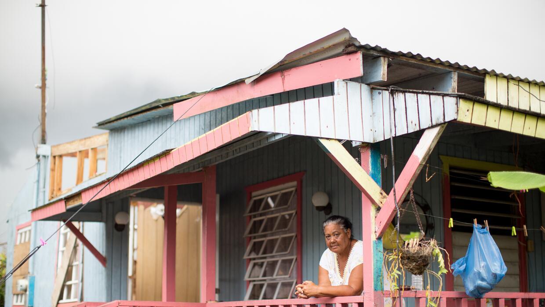 La casa de Carmen Ríos, en Maguayo, El Dorado, fue la más afectada de la...