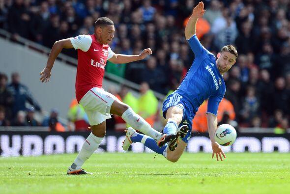 Arsenal manejó el balón pero la defensa del Chelsea no regaló los espacios.