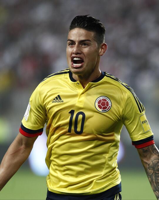 Colombia: su capitán James Rodríguez le entregó sus votos a Cristiano Ro...