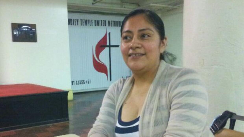 Imelda Lorenzo en la Casa de Los Soles donde toma cursos para manejar el...