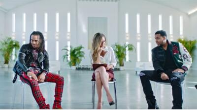 Romeo Santos and Ozuna premiere 'Sobredosis' music video