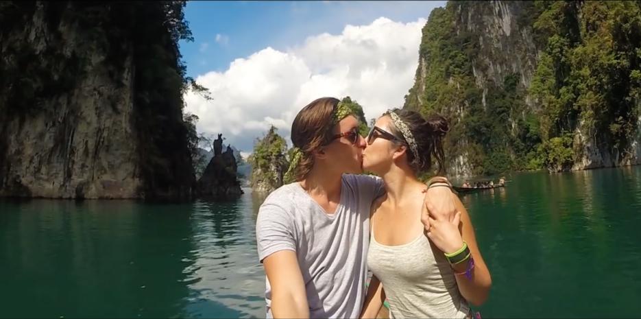 Brandon Lerry y su novia documentaron su viaje.