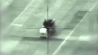 El viaje en un misil israelí que registra el momento en el que impacta un objetivo en Siria