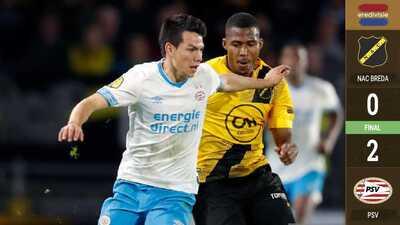 PSV gana al NAC Breda con el Chucky en la cancha