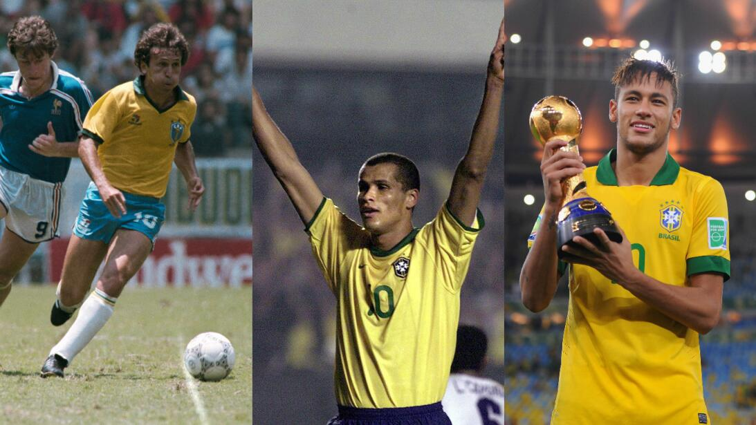 Las figuras que llevaron el '10' de Brasil después de Pelé  Getty-primer...