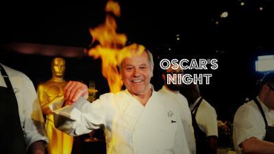 Wolfgang Puck cocina en la espectacular cena anual Governors Ball.