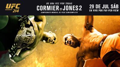 Disfruta la pelea entre Daniel Cormier y Jon Jones este 29 de julio sólo...