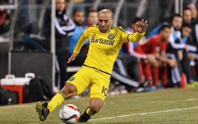COLUMBUS, OH - MARCH 14: Federico Higuain #10 of the Columbus Crew SC in...