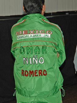 El verde de la bandera mexicana está presente en el equipo del Niño Romero.
