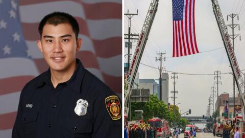 El bombero Kelly Wong, de 29 años, falleció este lunes tra...