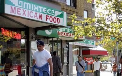 El distrito hispano en el barrio de Adams Morgan, en Washington DC.