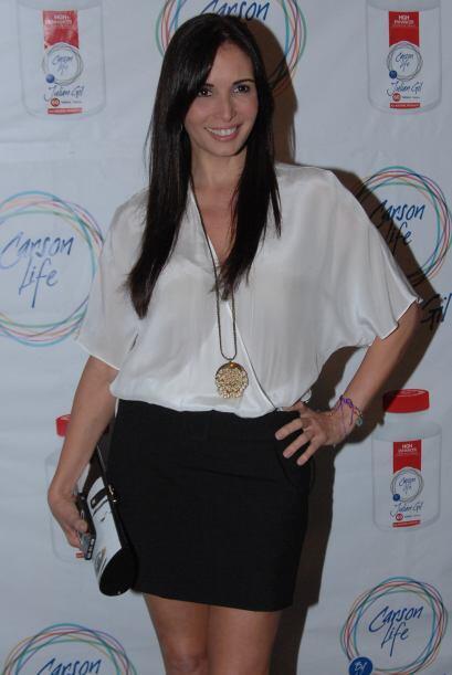 Giselle Blondet acompañó a su ex compañero en Nuestra Belleza Latina....