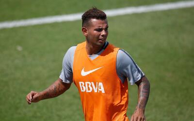 Edwin Cardona entrenamiento de Boca