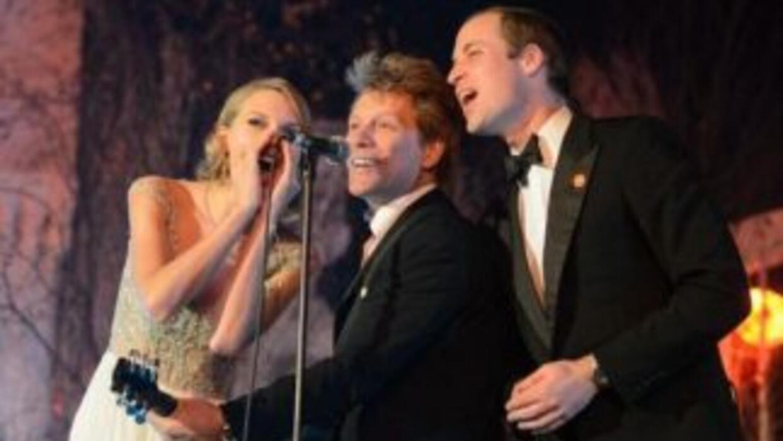 Bon Jovi, el príncipe William y Taylor Swift cantaron juntos en el palac...