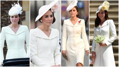 Estas son todas las veces que Kate se puso el mismo vestido que llevó a la boda de Meghan