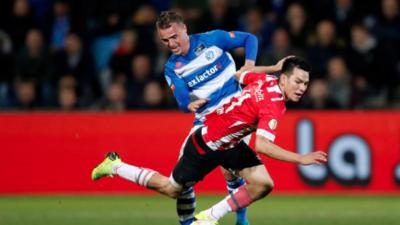 En fotos: sin protagonismo de los mexicanos, el PSV goleó a De Graasfschap en la Eredivisie