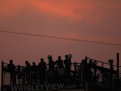 Bellísima toma del atardecer en Wriglel Field.