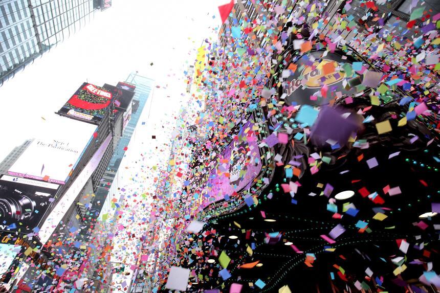 Así se recibirá el Año Nuevo en Manhattan.