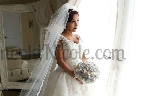 ¡Por fin! Después de tanto soñar con su boda Snooki se casó. FOTO: Sitio...