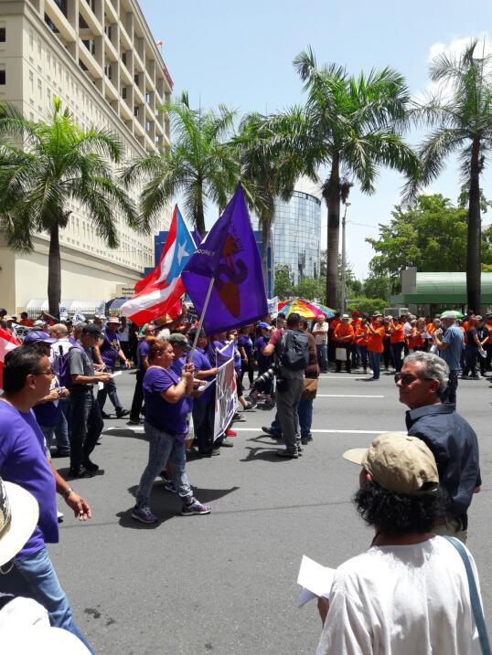 Marcha contra las medidas de austeridad en Puerto Rico.