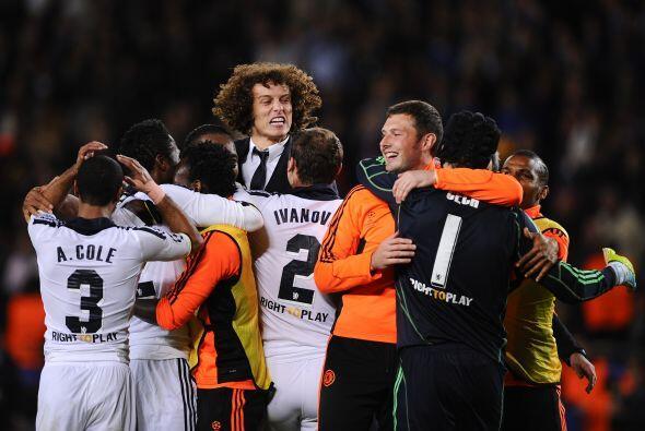 Mientras que los del Chelsea festejaron sy histórica victoria.