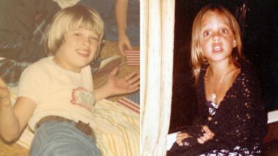Brad Pitt y Angelina Jolie de chiquitos
