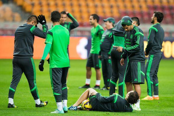 Muy relajado el ambiente en el equipo Tricolor previo a su duelo amistos...