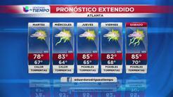 Lluvias y granizo llegan a la región de Atlanta