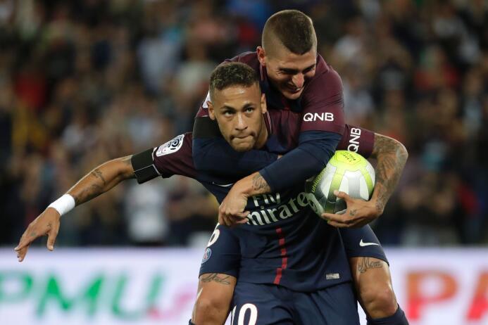 Con un doblete de Neymar, el PSG apabulló al Toulouse GettyImages-835928...