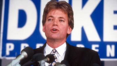 David Duke en su lanzamiento de candidatura en 1991