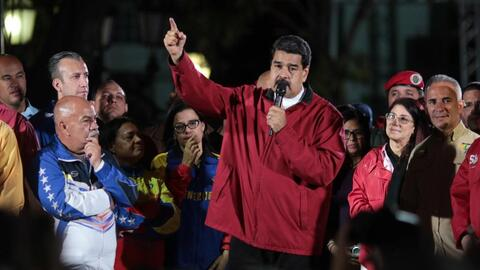 Venezuelan President Nicolas maduroa proclainms victory after Constituen...