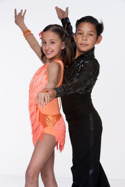 Nicole y Erick, bailarines de Pequeños Guerreros