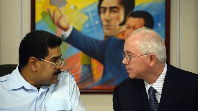 El presidente Nicolás Maduro pidió la renuncia de Rafael R...