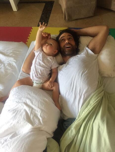 Valentino Lanús y su hija