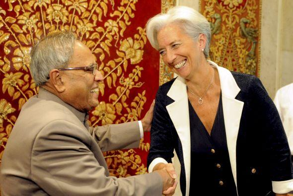 Lagarde se reunió en Nueva Delhi con el primer ministro Manmohan Singh,...