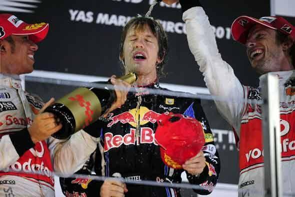 El podio de la última carrera tuvo a los tres campeones más recientes: H...