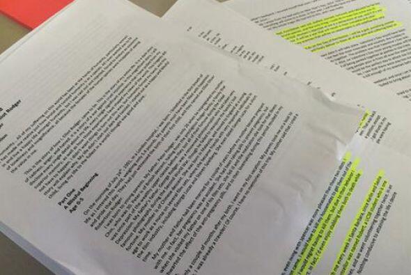 """En su manifiesto """" My Twisted World""""- un documento de 160 páginas..."""