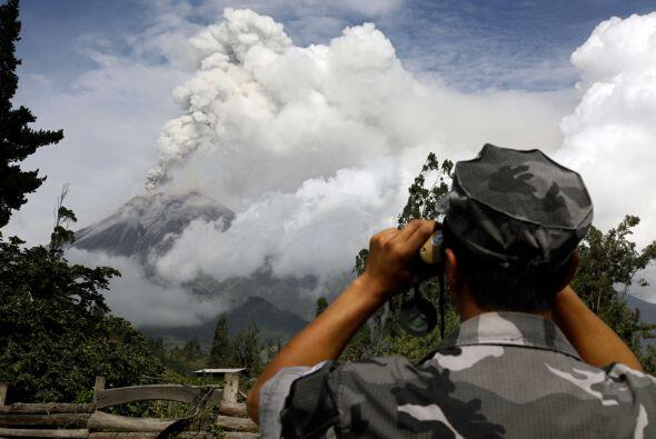 Desde el 20 de abril el Tungurahua ha mostrado un aumento de sus activid...