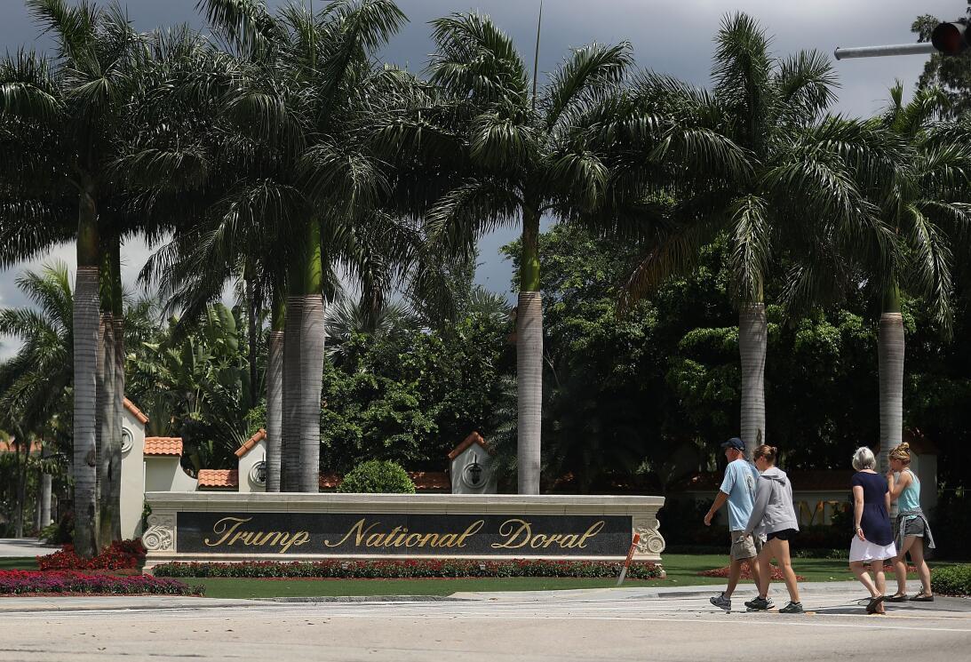 El club de golf Trump National Doral, en Florida, es el negocio que fact...