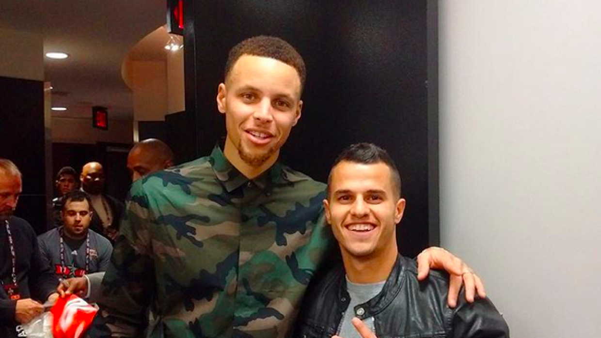 Sebastian Giovinco y Stephen Curry