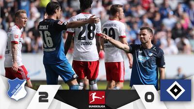 Hoffenheim derrota 2-0 al Hamburgo quien ve de cerca el descenso