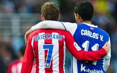 Antoine Griezmann, Carlos Vela Atlético de Madrid vs. Real Sociedad