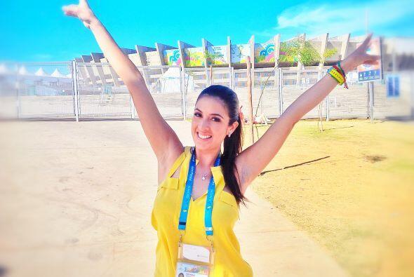 Este martes 8 de julio, Maity Interiano llegó a Belo Horizonte mu...