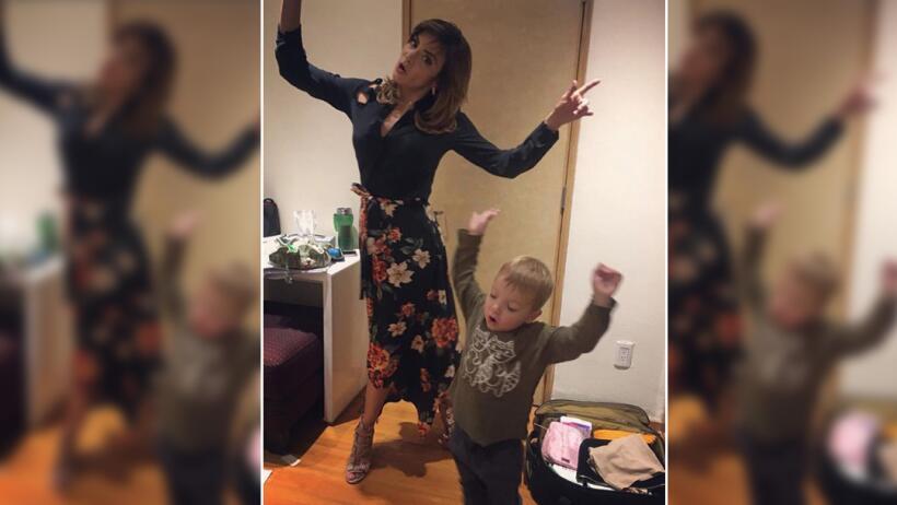 Silvia Navarro y el bebé de Caer en tentación