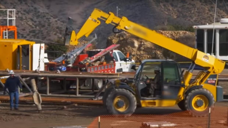 Obras de reparación de fuga de gas en Aliso Canyon, área de Porter Ranch